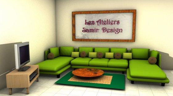 Vert galant art confort for Salon traditionnel marocain vert
