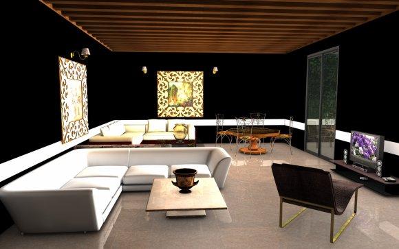 le salon noir art confort. Black Bedroom Furniture Sets. Home Design Ideas